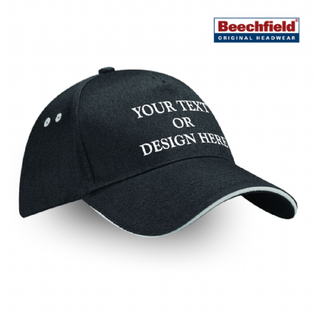 Personalised 5 Panel Cap with Sandwich Peak - Any Text / Design